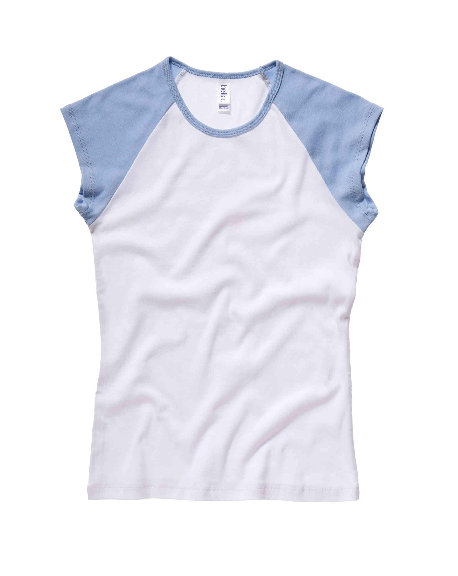 Tee Shirt Personnalis 233 Cap Sleeve Baseball Top Bella