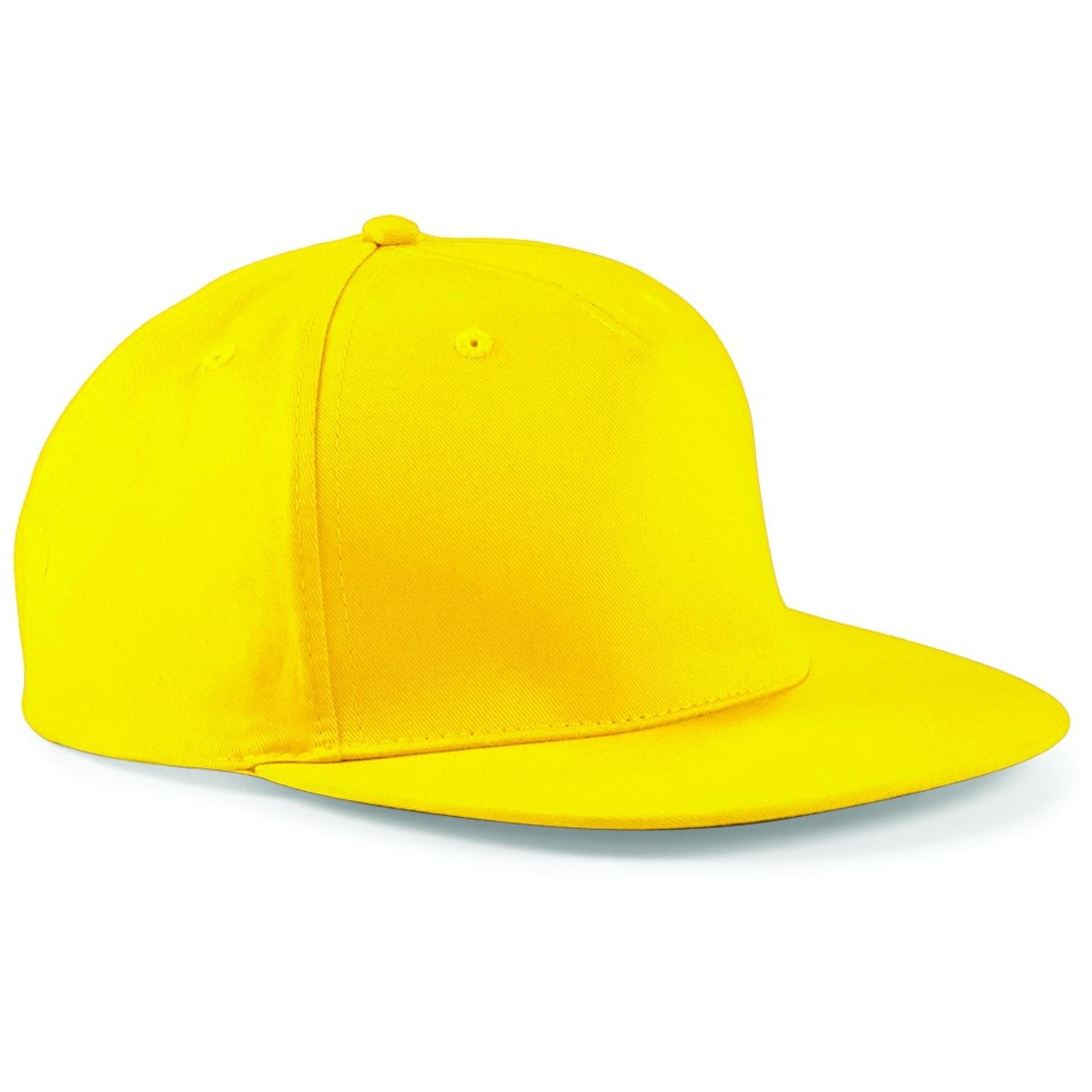 592c80a29efb8 ... CASQUETTE STYLE RAPPEUR 5 PANNEAUX Beechfield yellow. Couleur yellow