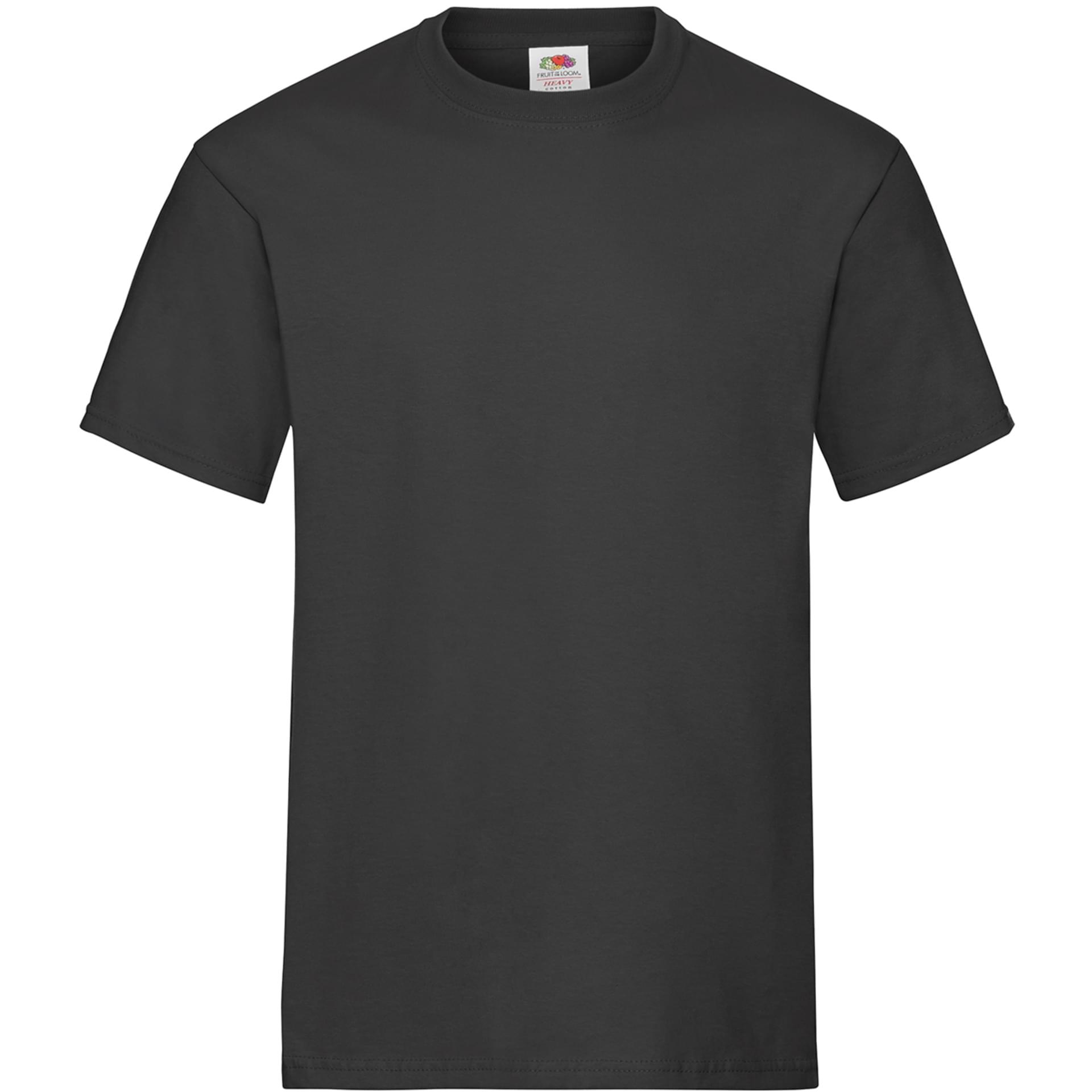 tee shirt personnalis heavy cotton t fruit of the loom noir. Black Bedroom Furniture Sets. Home Design Ideas