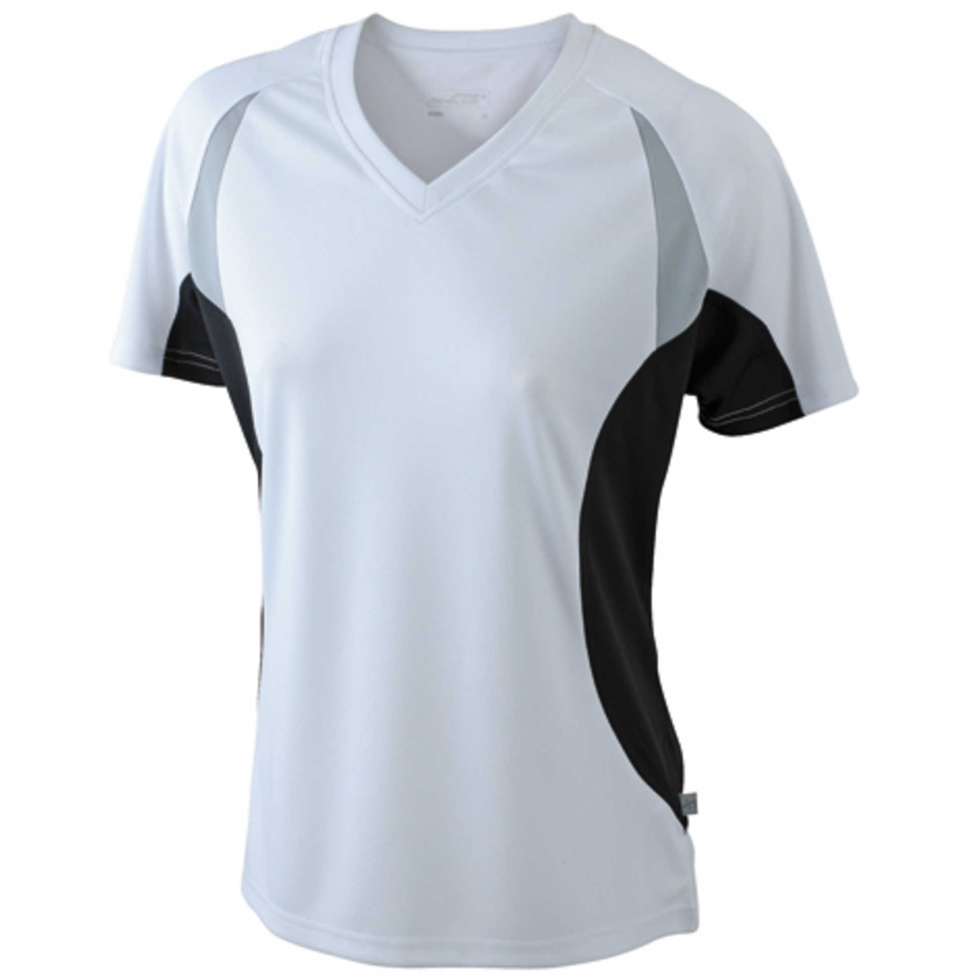 tee shirt personnalis ladies 39 running t james nicholson white black. Black Bedroom Furniture Sets. Home Design Ideas