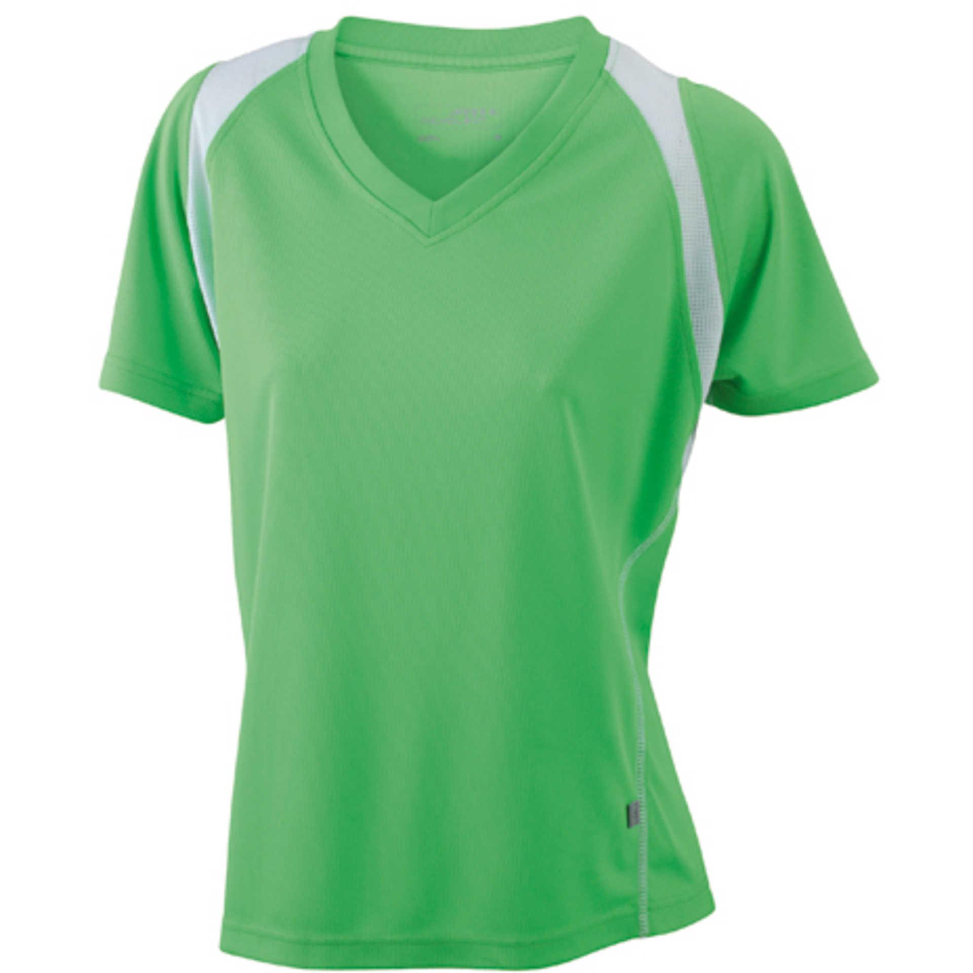 tee shirt personnalis ladies 39 running t james nicholson lime green white. Black Bedroom Furniture Sets. Home Design Ideas