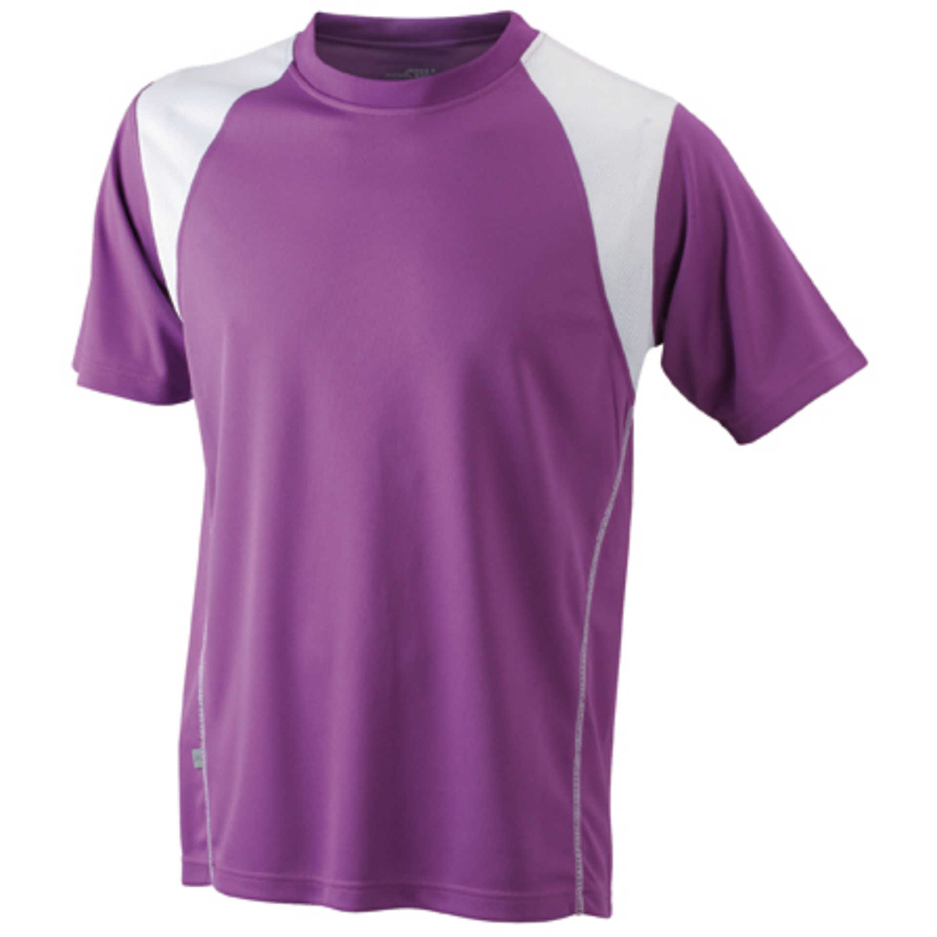 tee shirt personnalis men 39 s running t james nicholson purple white. Black Bedroom Furniture Sets. Home Design Ideas