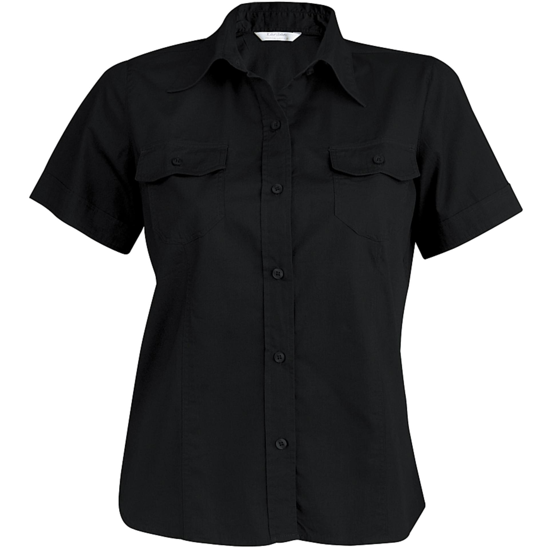 chemise personnalis e chemise femme manches courtes cintr e tropical ladies kariban kariban black. Black Bedroom Furniture Sets. Home Design Ideas