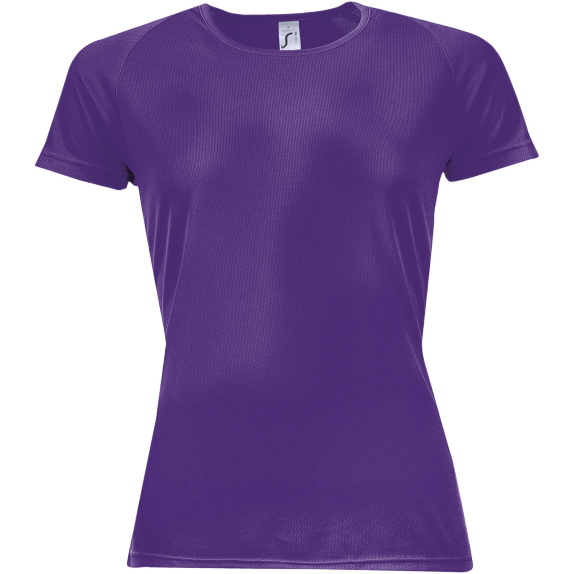 Tee shirt personnalis sporty women sol 39 s violet fonce - Couleur violet fonce ...
