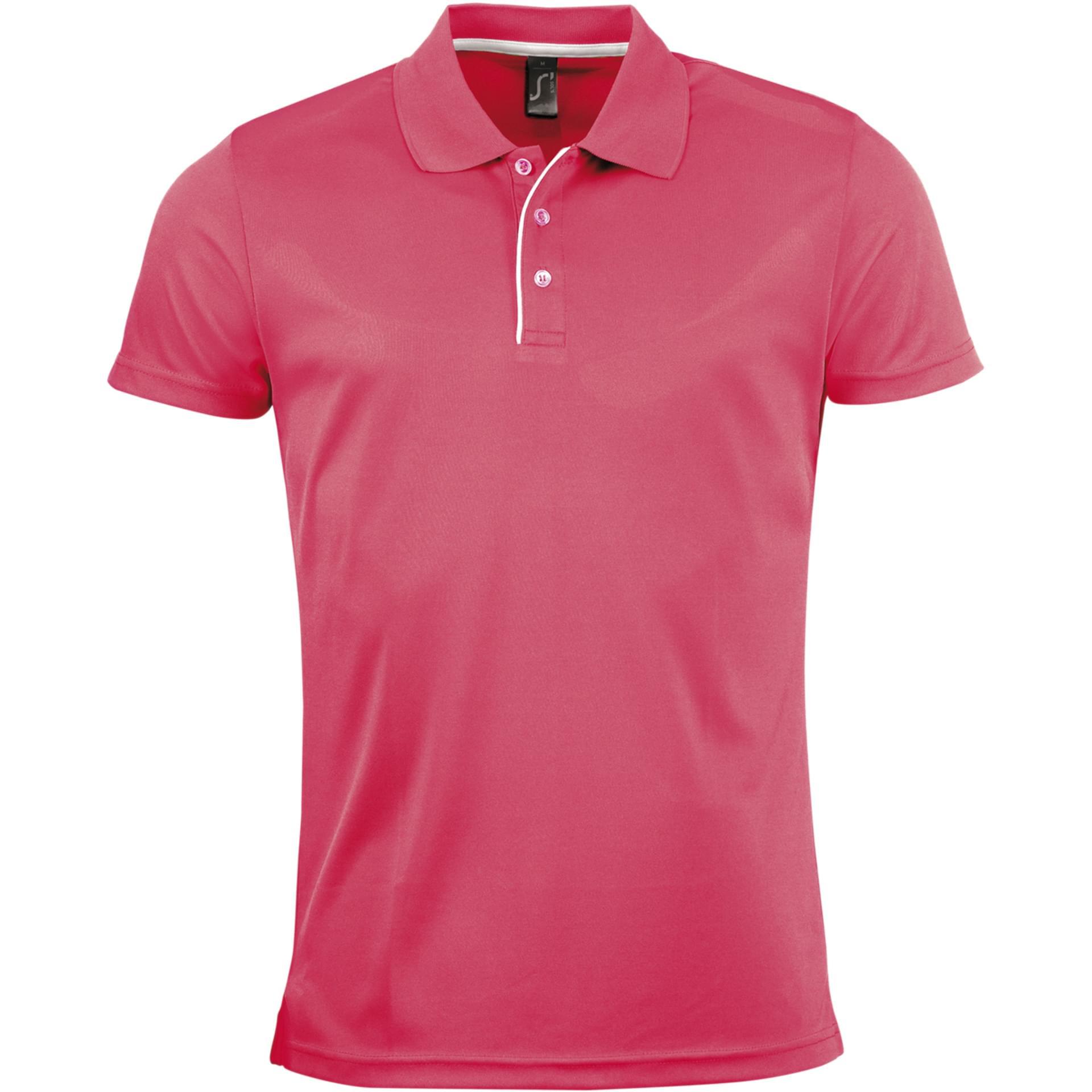 T-shirt de style polo corail