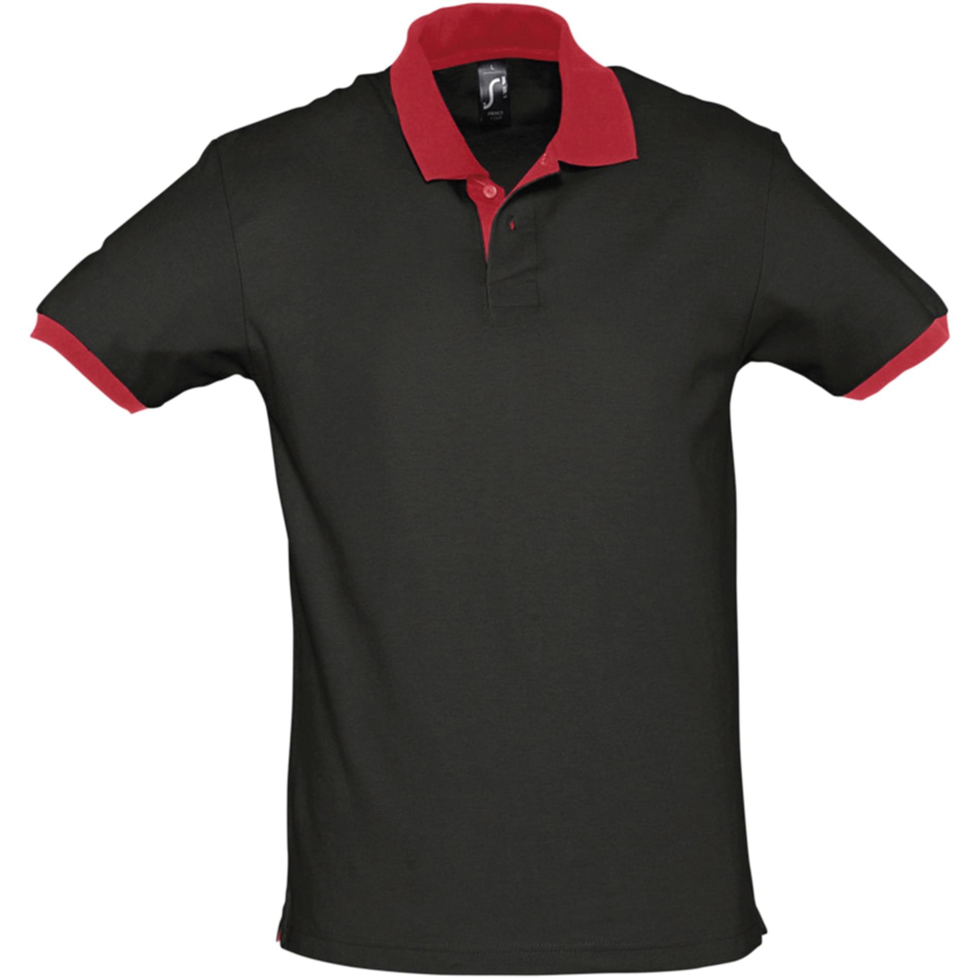 Polo personnalisé Prince Sol's noir/rouge