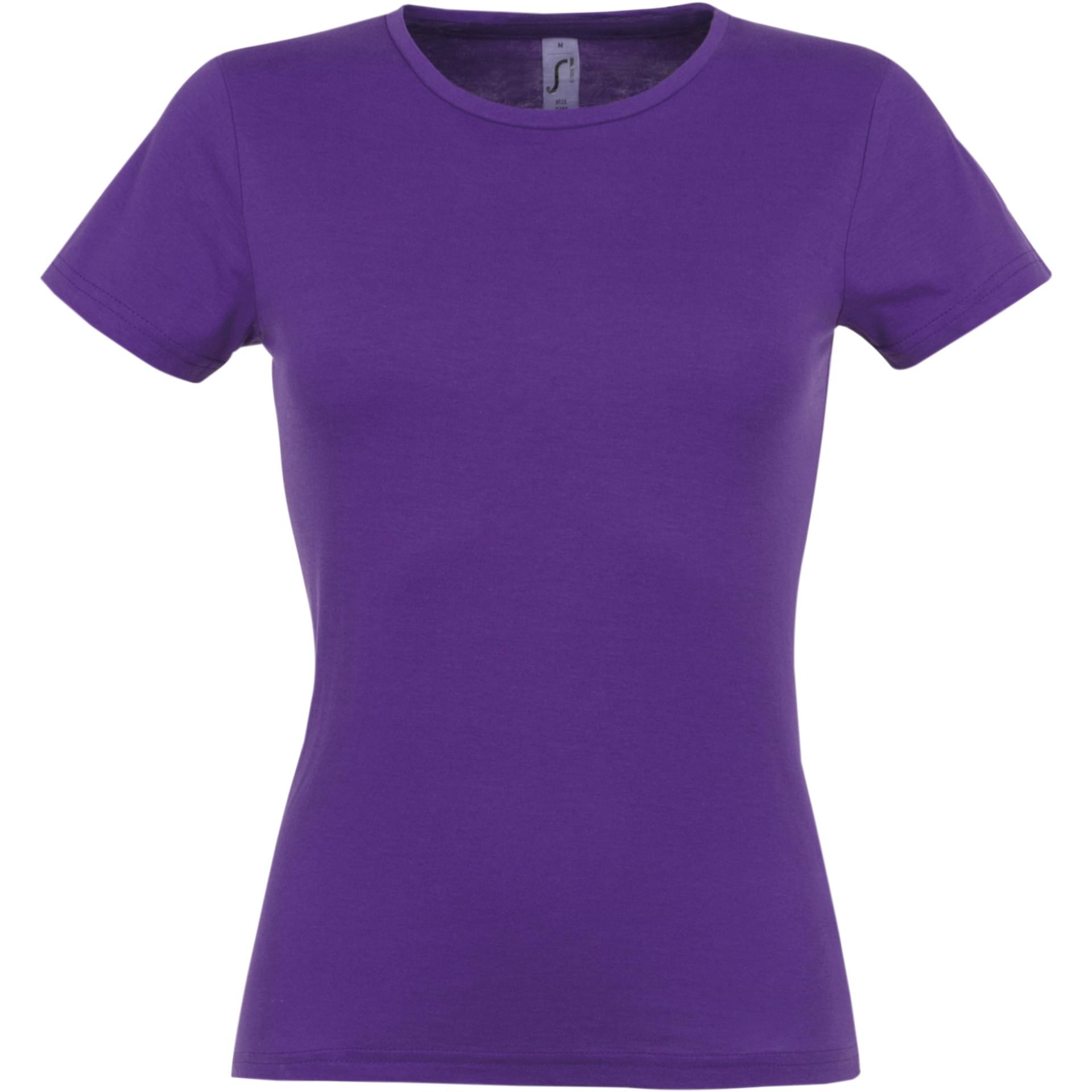Tee shirt personnalis miss sol 39 s violet fonce - Couleur violet fonce ...
