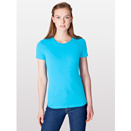 Women's fine jersey short sleeve T