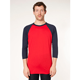 Unisex poly/cotton 3/4 sleeve raglan shirt