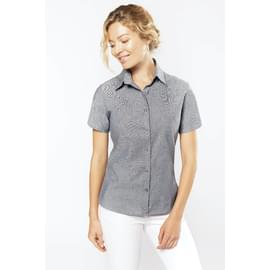 CHEMISE FEMME oxford MANCHES COURTES