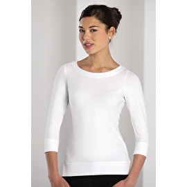 3/4 Sleeve Stretch Top T-shirt Femme Stretch manches 3/4